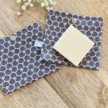 Pochette à Savon/déodorant solide – plusieurs modèles au choix – riad gris