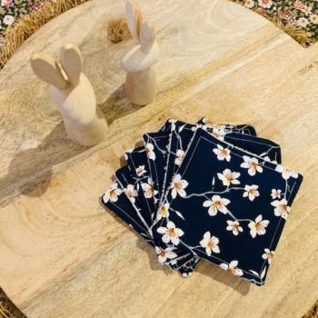 Lot de 6 lingettes lavables – Flower