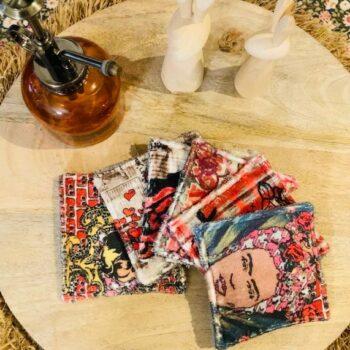 Lingettes lavables – Frida Kahlo