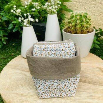 Lingettes lavables et panier – Mila
